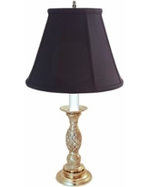 Providence Candlestick Pewter Pineapple Table Lamp
