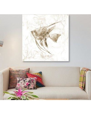 "East Urban Home 'Soft Marble Tropical Fish' Graphic Art Print on Canvas ESUH5616 Size: 37"" H x 37"" W x 0.75"" D"