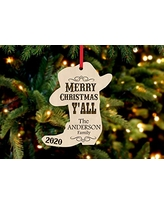 Southern Cowboy Personalized Christmas Ornament