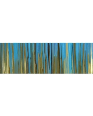 """East Urban Home 'Solitary' Painting Print on Wrapped Canvas URBR5960 Size: 12"""" H x 36"""" W x 1.5"""" D"""