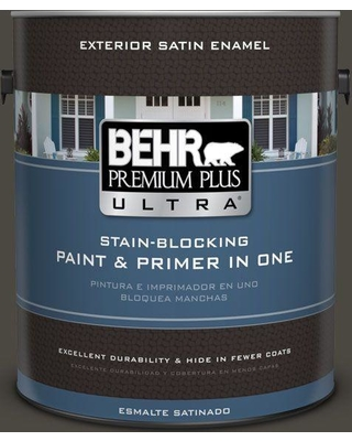 BEHR ULTRA 1 gal. Home Decorators Collection #HDC-CL-14A Warm Onyx Satin Enamel Exterior Paint & Primer