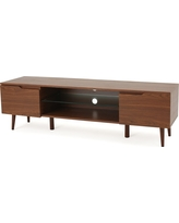 Rowan 56 TV Stand Walnut (Brown) - Christopher Knight Home