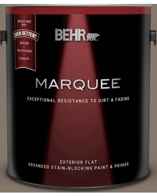 BEHR MARQUEE 1 gal. #MQ2-38 Grizzly Flat Exterior Paint and Primer in One