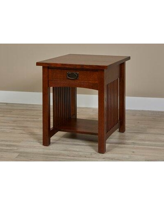 Millwood Pines Linnea Solid Wood 1 Drawer End Table with Storage X112438407