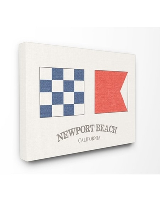 The Stupell Home Decor Collection Newport Beach Nautical Flags Oversized Stretched Canvas Wall Art, 24 x 1.5 x 30