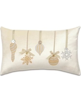 Eastern Accents Deck The Halls Metallic Ornaments Lumbar Pillow ATE-200