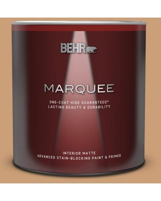 BEHR MARQUEE 1 qt. #ICC-62 Pumpkin Butter Matte Interior Paint and Primer in One