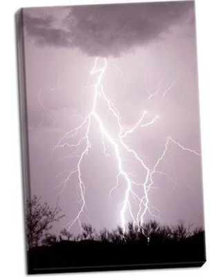 Ebern Designs 'Dancing Lightning' Photographic Print on Wrapped Canvas BF051915