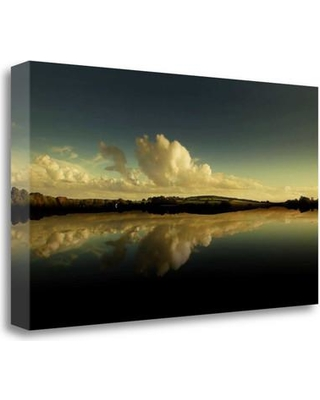 """Tangletown Fine Art 'Cloud Reflection' Photographic Print on Wrapped Canvas ICG651D-2414c Size: 14"""" H x 24"""" W"""