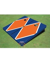 All American Tailgate Matching Diamond Cornhole Board PT-27 Color: Orange and Blue