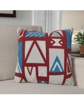 """The Holiday Aisle Christmas Outdoor Throw Pillow HLDY1509 Size: 20"""" H x 20"""" W, Color: Cranberry"""