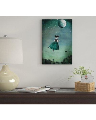 "East Urban Home 'Moonwalk' by Catrin Welz-Stein Graphic Art Print on Wrapped Canvas EUME4923 Size: 40"" H x 26"" W x 0.75"" D"