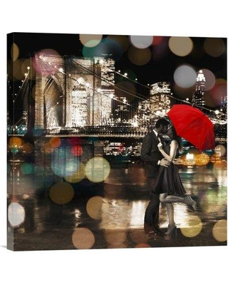 """Global Gallery 'A Kiss in the Night (Detail)' by Loumer Photographic Print on Wrapped Canvas GCS-465781- Size: 18"""" x 18"""" x 1.5"""" D"""