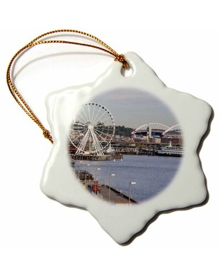 USA, Washington, Seattle, Great Wheel, Pier 57 Snowflake Holiday Shaped Ornament The Holiday Aisle®