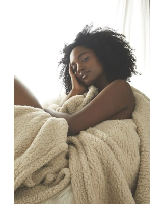 b4cbd4b976c Urban Outfitters Amped Fleece Throw Blanket - Beige at Urban Outfitters  from Urban Outfitters (US) | more