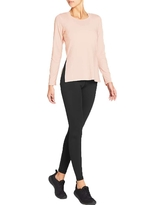 Vie Active Women's Debra Long Sleeve Top - Small - Blush