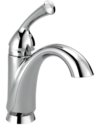 Delta Haywood Chrome 1-Handle 4-in Centerset WaterSense Bathroom Sink Faucet with Drain and Deck Plate | 15999-DST