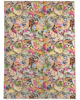 Don T Miss Sales On Bloomsbury Market Fratar Pink Yellow Purple Area Rug Polyester In Purple Pink Yellow Size Rectangle 8 X 10 Wayfair