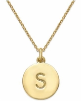 """Kate Spade New York 12k Gold-Plated Initials Pendant Necklace, 17"""" + 3"""" Extender - S"""