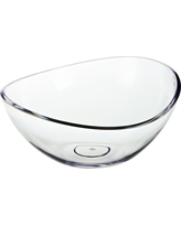 Felli Bandeau Acrylic Serving Bowl 123.4oz, Clear