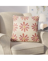 Viv + Rae Christy Flowers Throw Pillow VVRO2925 Color: Red