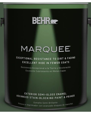 BEHR MARQUEE 1 gal. #ECC-11-3 Whispering Oaks Semi-Gloss Enamel Exterior Paint and Primer in One
