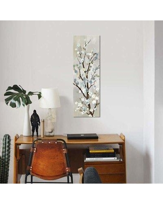 """East Urban Home 'Blossom I' By PI Studio Graphic Art Print on Wrapped Canvas ETRC5633 Size: 36"""" H x 12"""" W x 0.75"""" D"""