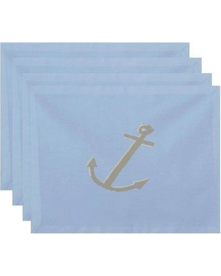 "Breakwater Bay Tremont Decorative 18"" Placemat BRWT6929 Color: Blue / Off-White"