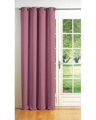 Evideco Cocoon Blackout Thermal Single Curtain Panel COC160 Curtain Color: Pale Pink