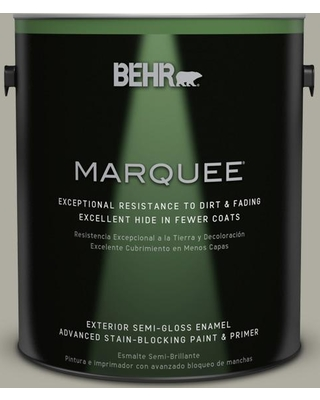 BEHR MARQUEE 1 gal. #PPU25-06 Wells Gray Semi-Gloss Enamel Exterior Paint and Primer in One