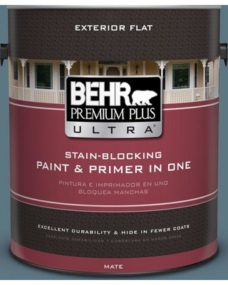 BEHR Premium Plus Ultra 1 gal. #530F-6 Heron Flat Exterior Paint and Primer in One
