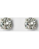 Women's Round Crystal Stud Earring - A New Day Silver