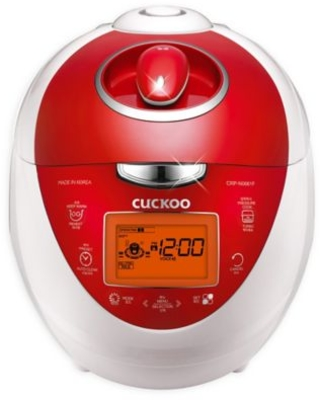 Cuckoo Electronics® CRP-N0681FV 6 Cup Heating Pressure Rice Cooker & Warmer in Red/White