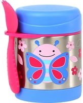 Skip Hop Zoo Little Kids & Toddler Insulated Stainless Food Jar & Utensil - Butterfly, Multi-Colored