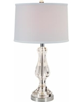Porta Chrome and Crystal Table Lamp
