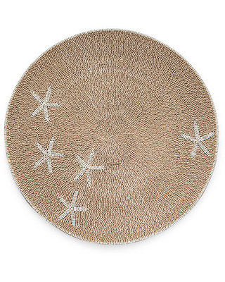 Starfish Place Mat - Taupe/White - Joanna Buchanan