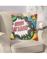 "Zoomie Kids Cassidy Home At Last Throw Pillow ZMIE2520 Size: 22"" H x 22"" W x 5"" D"