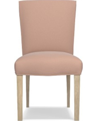Fitzgerald Dining Side Chair, Signature Velvet, Rosewater, Heritage Grey Leg