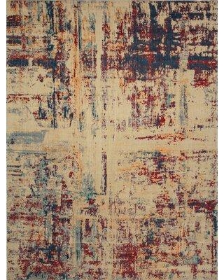 "Williston Forge Matney Beige Area Rug W001254888 Rug Size: Rectangle 5'3"" x 7'6"""