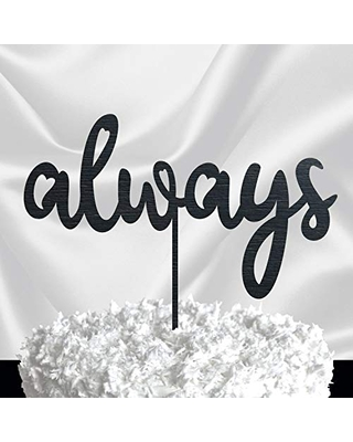 Personalized Cake Topper - Gold Glitter Wedding Cake Topper - Wedding Cake Decoration - Custom Cake Topper Love Always