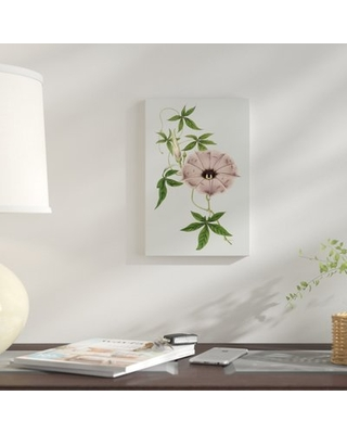 """'Floral Gems VI' Graphic Art Print on Wrapped Canvas East Urban Home Size: 18"""" H x 12"""" W x 0.75"""" D"""