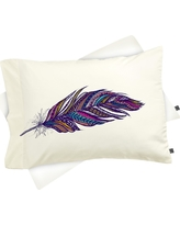 Stephanie Corfee Festival Feathers Pillow Sham Standard Purple - Deny Designs