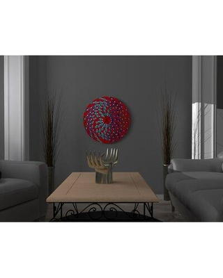 East Urban Home Oversized Better Momentous Metal Wall Clock X113223435 Finish: Red/Blue Size: Small
