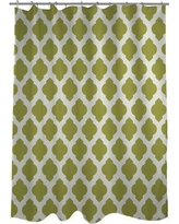 One Bella Casa All Over Moroccan Shower Curtain HMW5340 Color: Oasis Green/Ivory