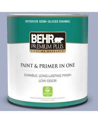 Can T Miss Deals On Behr Premium Plus 1 Qt S540 3 Meadow Phlox Semi Gloss Enamel Low Odor Interior Paint And Primer In One