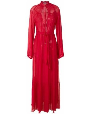Silk Maxi Dress - Red - Amir Slama Dresses