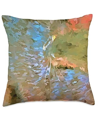 taiche Surreal Pop Art Camouflage Cat Throw Pillow, 18x18, Multicolor