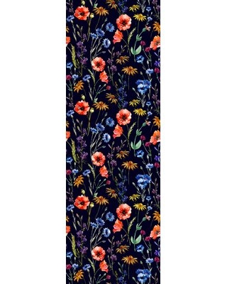 """Spalding Removable Field Flowers 10' L x 25"""" W Peel and Stick Wallpaper Roll"""