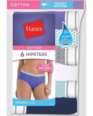 5accffa77a6 Hanes Women's Cotton 6pk PP41AS Hipster briefs - Colors Vary 5, Multicolored