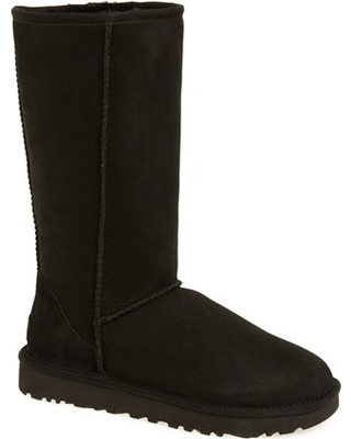 Women's UGG Classic Ii Genuine Shearling Lined Tall Boot, Size 5 M - Black
